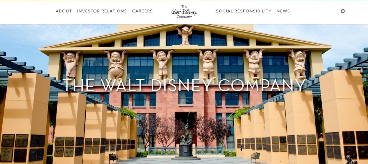 Сайт на основе WordPress: The Walt Disney Company