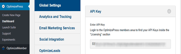 Лицензионный ключ OptimizePress