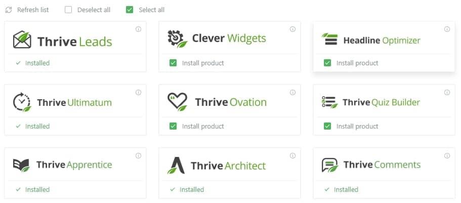 Плагины от Thrive Themes