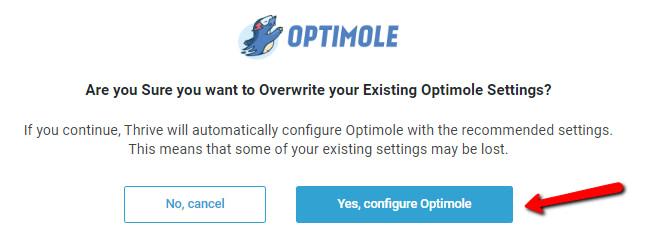 настроить Optimole