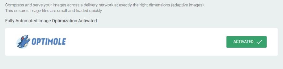 в Optimole будут настроены параметры